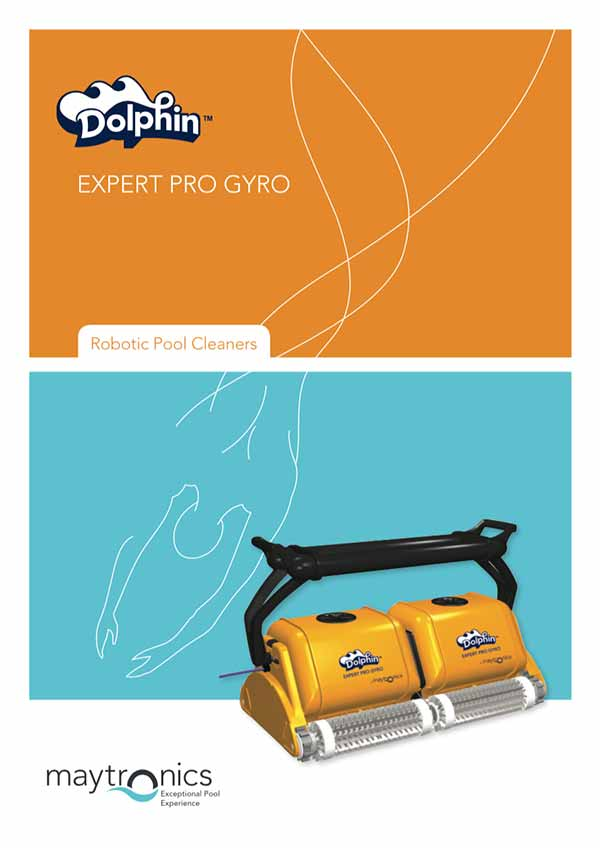 Robotic Pool Cleaner Manual Dolphin Maytronics Expert Pro Gyro