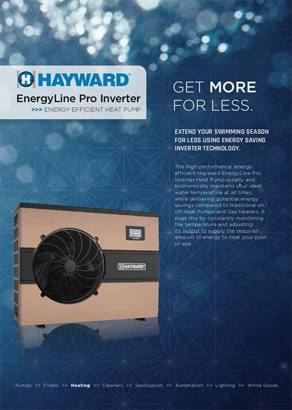 Hayward EnergyLine Swimming Pool Inverter Heat Pump Manual