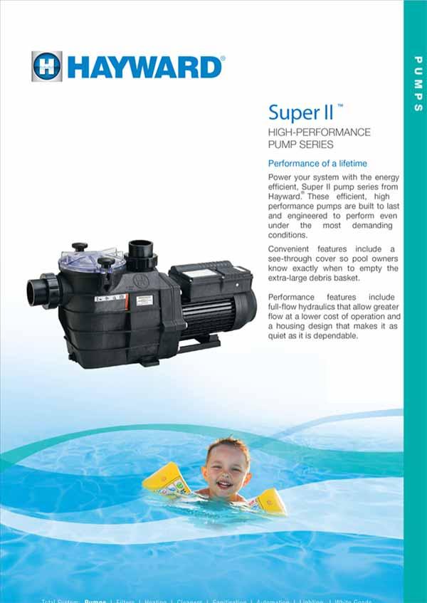 Hayward Super II Pool Water Pump Manual