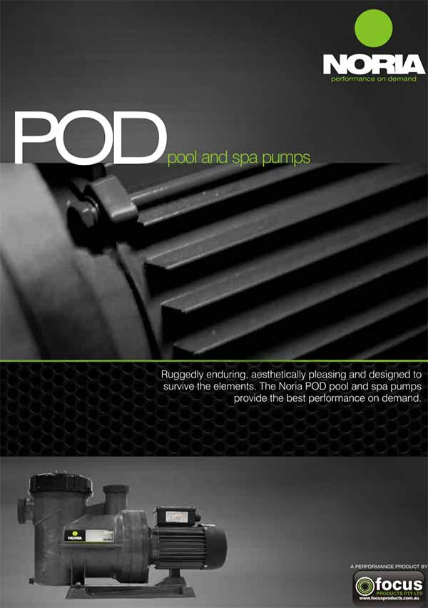 Noria POD100 and POD150 Pool Water Pumps Manual
